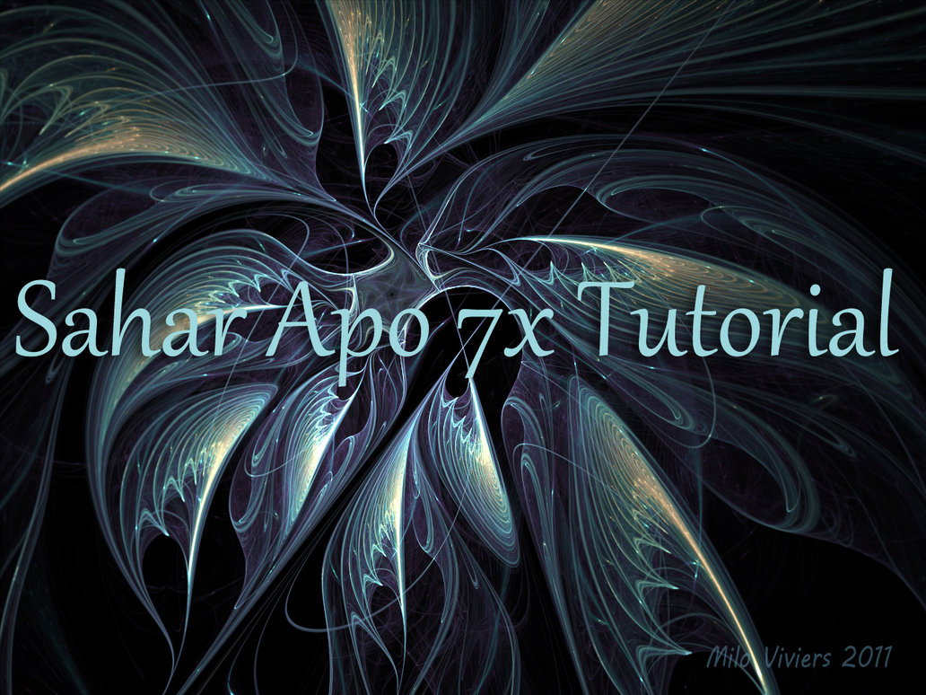 Sahar Tutorial for Apo 7X