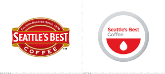 Seattle's best Coffee logo redesign