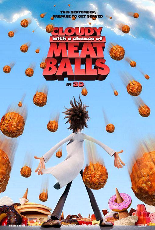 cloudy meatballs1 100 Most Astonishing Movie Posters