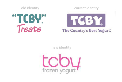 tcby logo redesigns