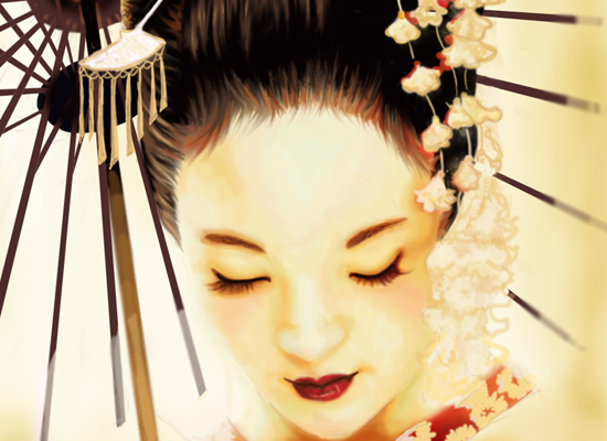 30+ Beautiful Digital Art of Geisha