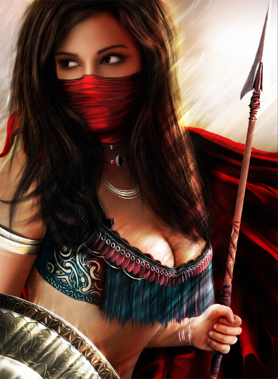 warrior14 35+ Incredible Mixed Media Art of Warriors