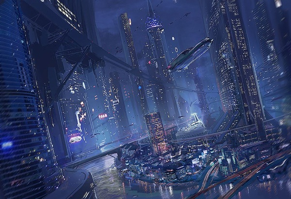 Breathtaking Future City Concept Art (8)