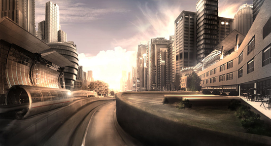futurecity1 30 Breathtaking Future City Concept Art