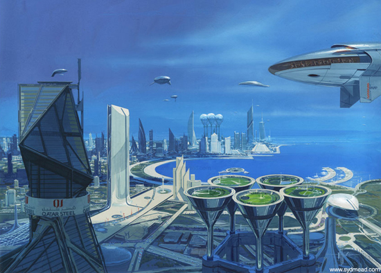 Breathtaking Future City Concept Art