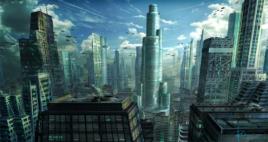 futurecity16 30 Breathtaking Future City Concept Art