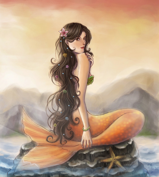 Mermaid Beautiful Concept Art and Pictures