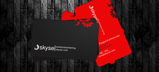 Spectacular Use of Black Color in Business Card Design