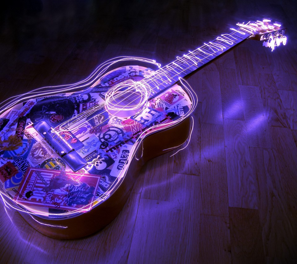 lighted-guitar-3d-desktop-hd-wallpaper-854x960