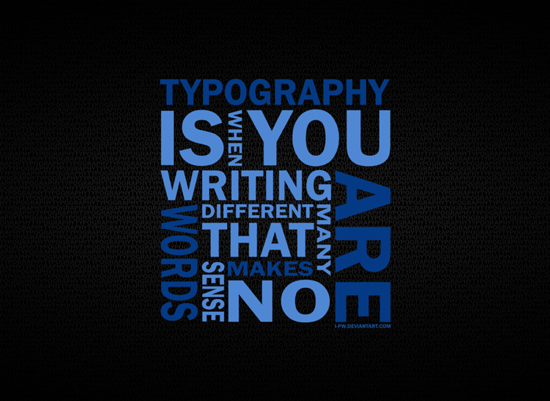 Download HQ Typography Wallpapers