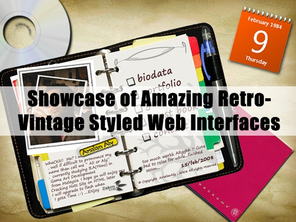Retro-Vintage Styled Web Interfaces 3