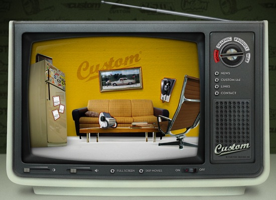 Retro-Vintage Styled Web Interfaces 6