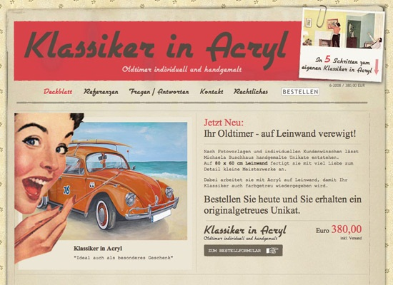 Retro-Vintage Styled Web Interfaces 7