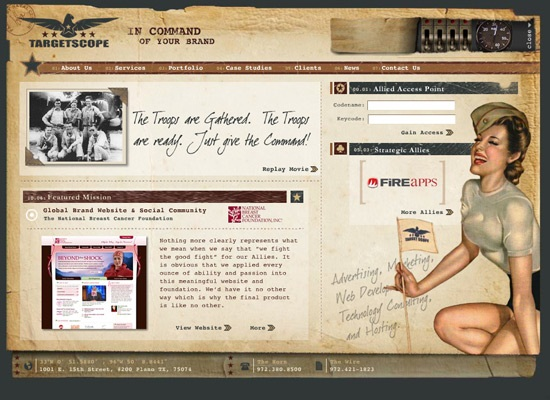 Retro-Vintage Styled Web Interfaces 8