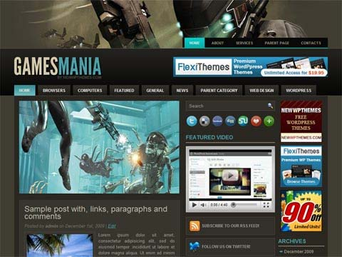 Absolutely New & Fresh WordPress Themes