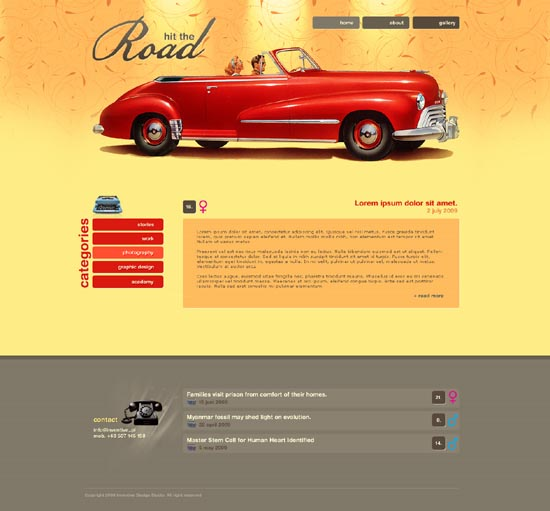 Retro Styled Web Interfaces
