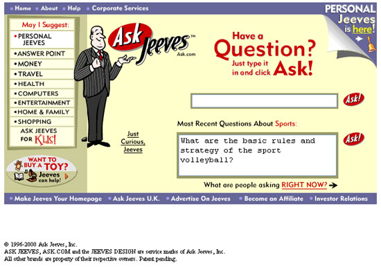 Website Designs in Year 2000