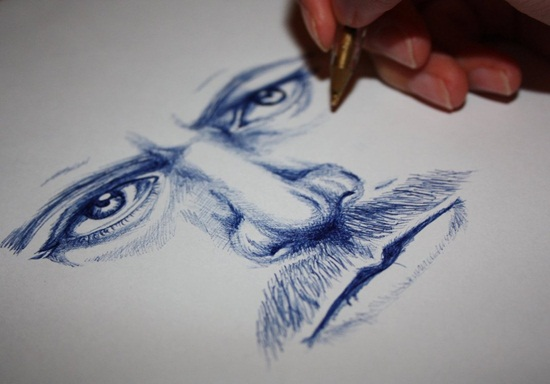 Ballpoint Pen Drawings & Sketches (11)