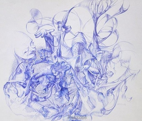 Ballpoint Pen Drawings & Sketches (8)