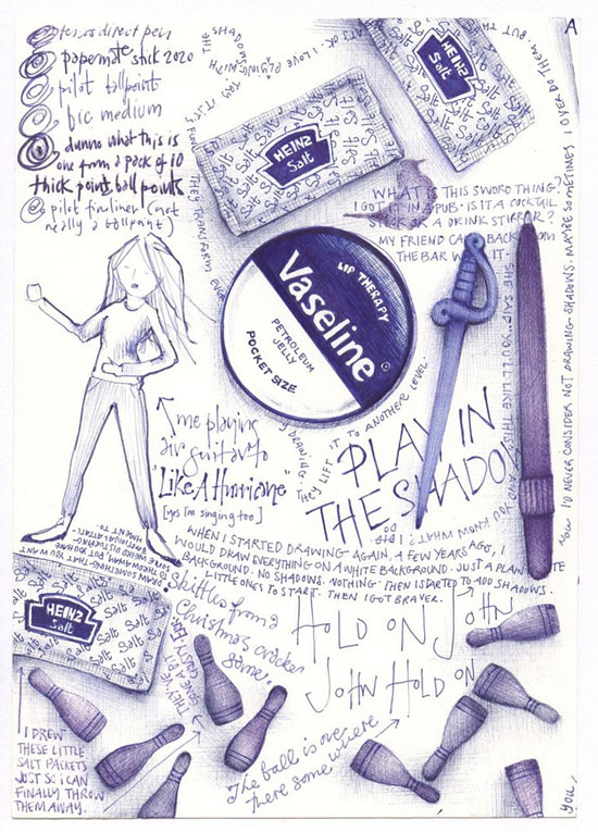 Ballpoint Pen Drawings & Sketches