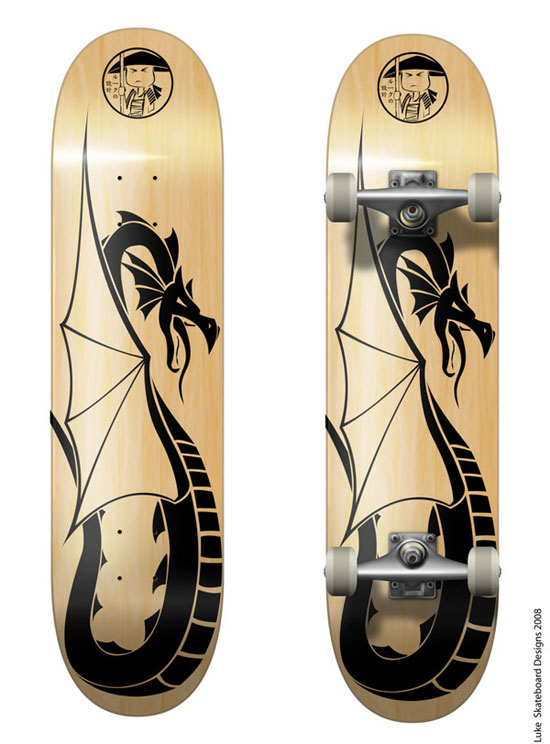 Kick Ass Skateboard Deck Design