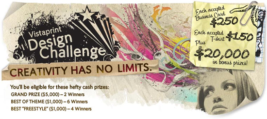 Chance to Win Big Cash Prizes With Vista Print Design Challenge