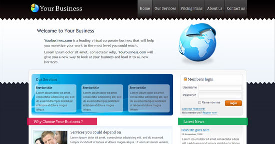 Download Free XHTML Templates