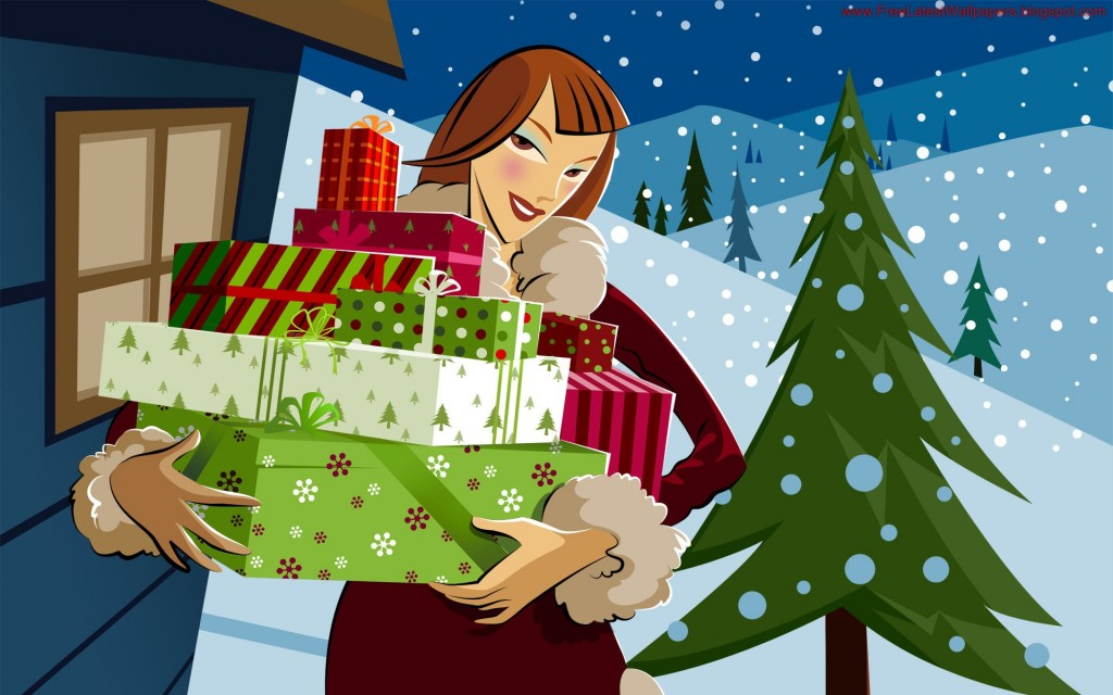 Christmas HD Vector 06 1024x640 Gorgeous Vector HD Christmas Wallpapers