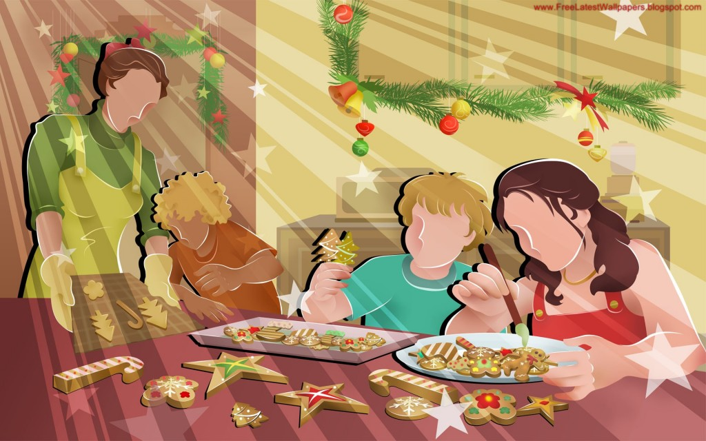 Christmas HD Vector 11 1024x640 Gorgeous Vector HD Christmas Wallpapers