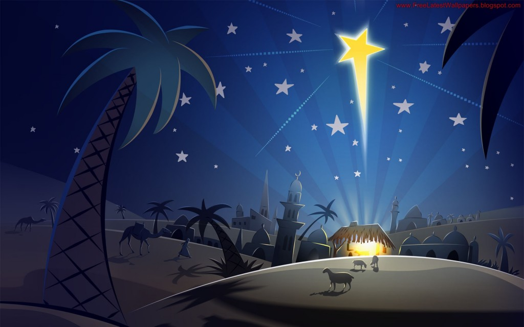 Christmas HD Vector 14 1024x640 Gorgeous Vector HD Christmas Wallpapers