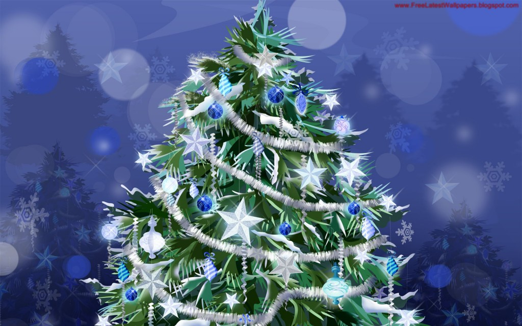 Christmas HD Vector 22 1024x640 Gorgeous Vector HD Christmas Wallpapers