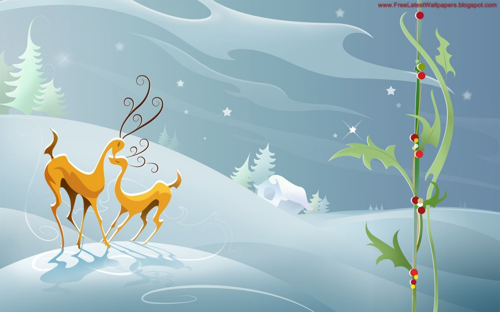 Christmas HD Vector 31 1024x640 Gorgeous Vector HD Christmas Wallpapers