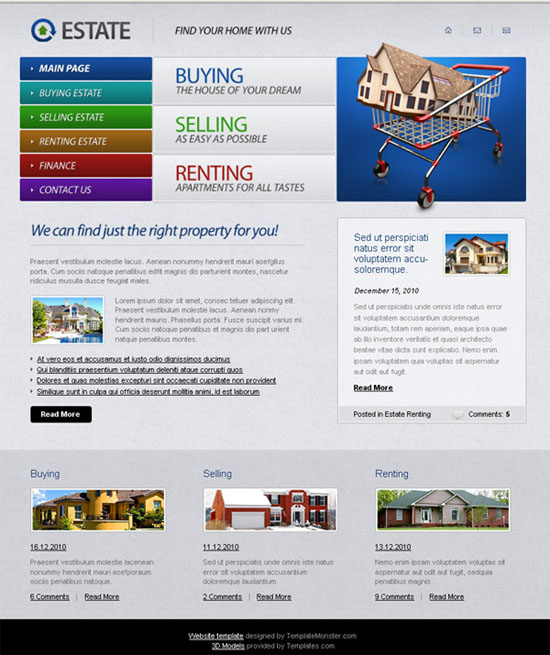 mercerbell / 17 Absolutely New and Free PSD Website Templates