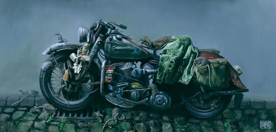 Kick Ass Motorcycle Art & Illustrations By Michael Knepper