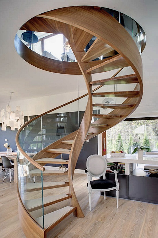 Most Beautiful Examples of Spiral & Helical Staircase Photography (15)