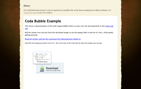 coda popup bubbles 13 best jQuery tooltip plugins to enhance your website look