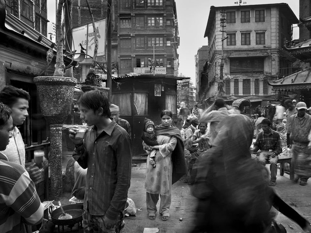 crowded street kathmandu 8611 990x742 Most Popular Black & white photos of National Geography