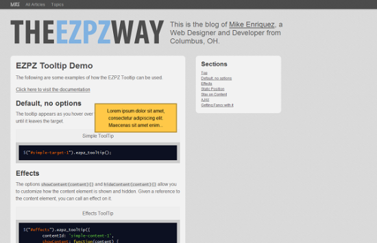 ezpz tooltip 13 best jQuery tooltip plugins to enhance your website look
