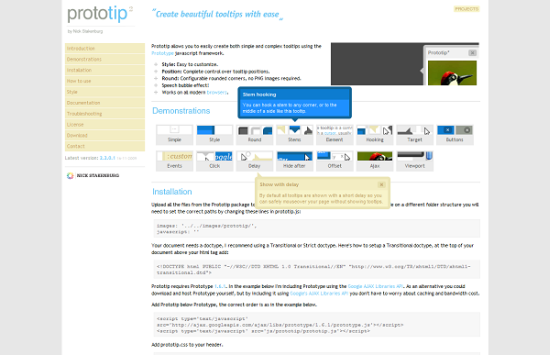 prototip2 13 best jQuery tooltip plugins to enhance your website look