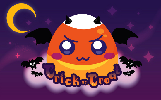 Evil Candy Corn Wallpaper 25+ Cute but not so Scary halloween Wallpapers