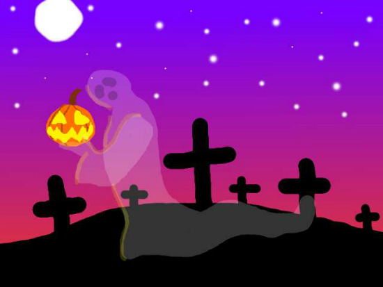 Halloween Graveyard by ravenaudron 25+ Cute but not so Scary halloween Wallpapers