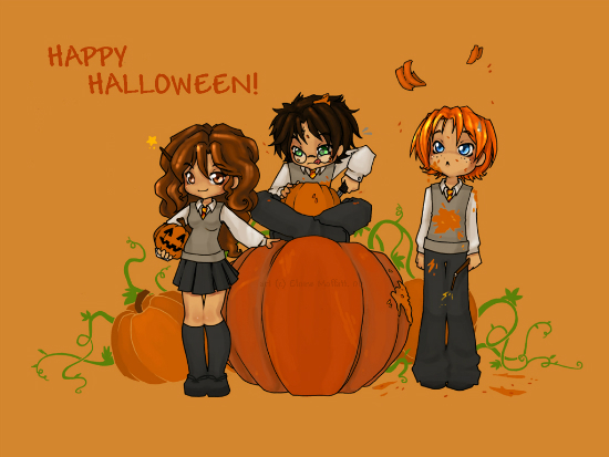 Happy HP Halloween   by Kinky chichi 25+ Cute but not so Scary halloween Wallpapers