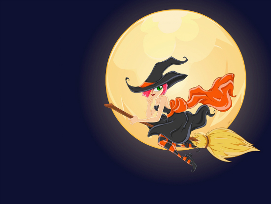 The Witching Hour   Wallpaper by snerk 25+ Cute but not so Scary halloween Wallpapers