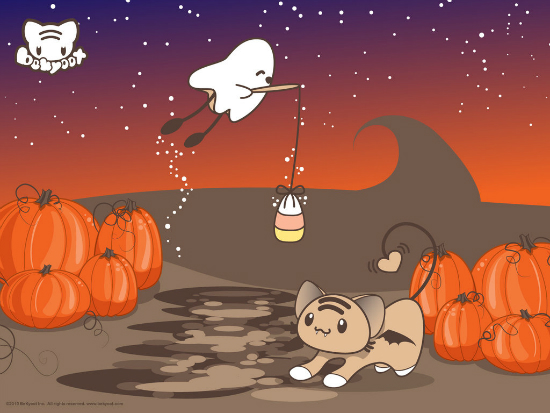 halloween fishin   wallpaper 25+ Cute but not so Scary halloween Wallpapers