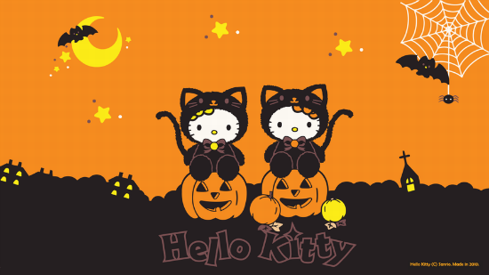 hello kitty 25+ Cute but not so Scary halloween Wallpapers