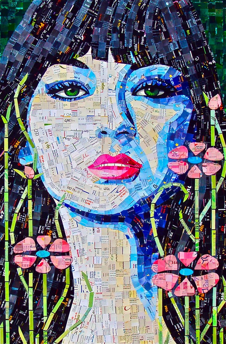 pretty Women - paper mosaic