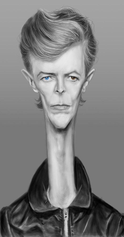 David Bowie funny Caricature