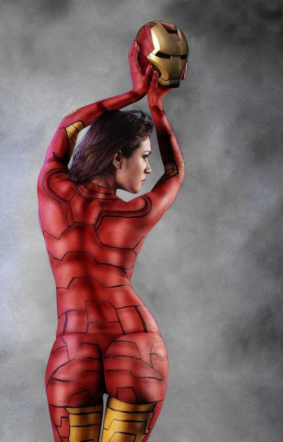 ironman halloween body paint example