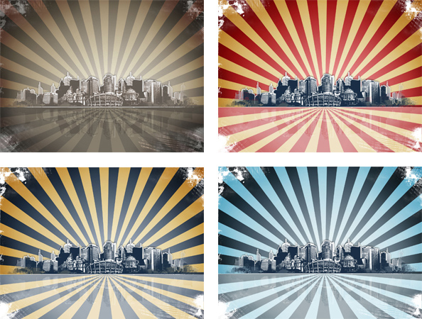 grunge city psd background template