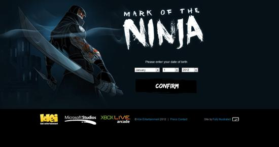 webdesign! mark of the ninja gaming website